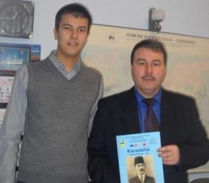 Procurorul Zafer Sadîc alături de realizatorul interviului, Ateş Casimceali